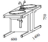 Laboratórny stôl umývací