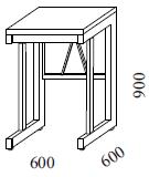 Váhový stôl pre prácu v stoji