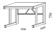 Váhový stôl pre prácu v sede